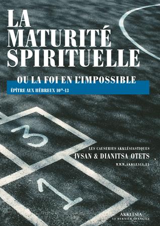pdf akklésia Maturité spirituelle couv